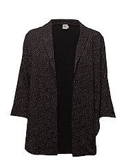 DOT PRINT BLAZER - BLACK
