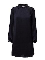 DRESS W HIGHNECK - DEEP BLUE