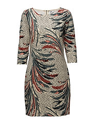 FEATHER PRINTED JERSEY DRESS - ORION B.