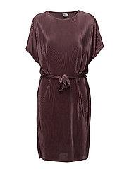 PLISSE DRESS - FLINT