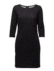CLASSIC LEOPARD PRINT DRESS - BL DEEP