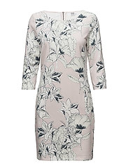 LARGE FLOWER P.JERSEY DRESS - B.LILAC
