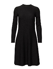 SHIMMER JERSEY DRESS - BLACK