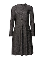 SHIMMER JERSEY DRESS - SILVER
