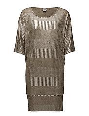 FOIL PRINTED RIB DRESS - ASTI
