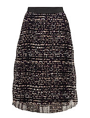 BLACK PANTER PRINT SKIRT - WINE