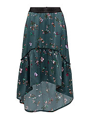LONG SKIRT WITH RUFFLE - S.GREEN
