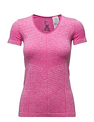ELEVATE SEAMLESS SS TEE W - ROSE VIOLET