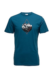 X ALP GRAPHIC SS TEE M - MOROCCAN BLUE
