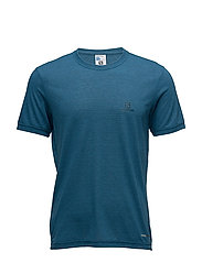EXPLORE SS TEE M - MOROCCAN BLUE