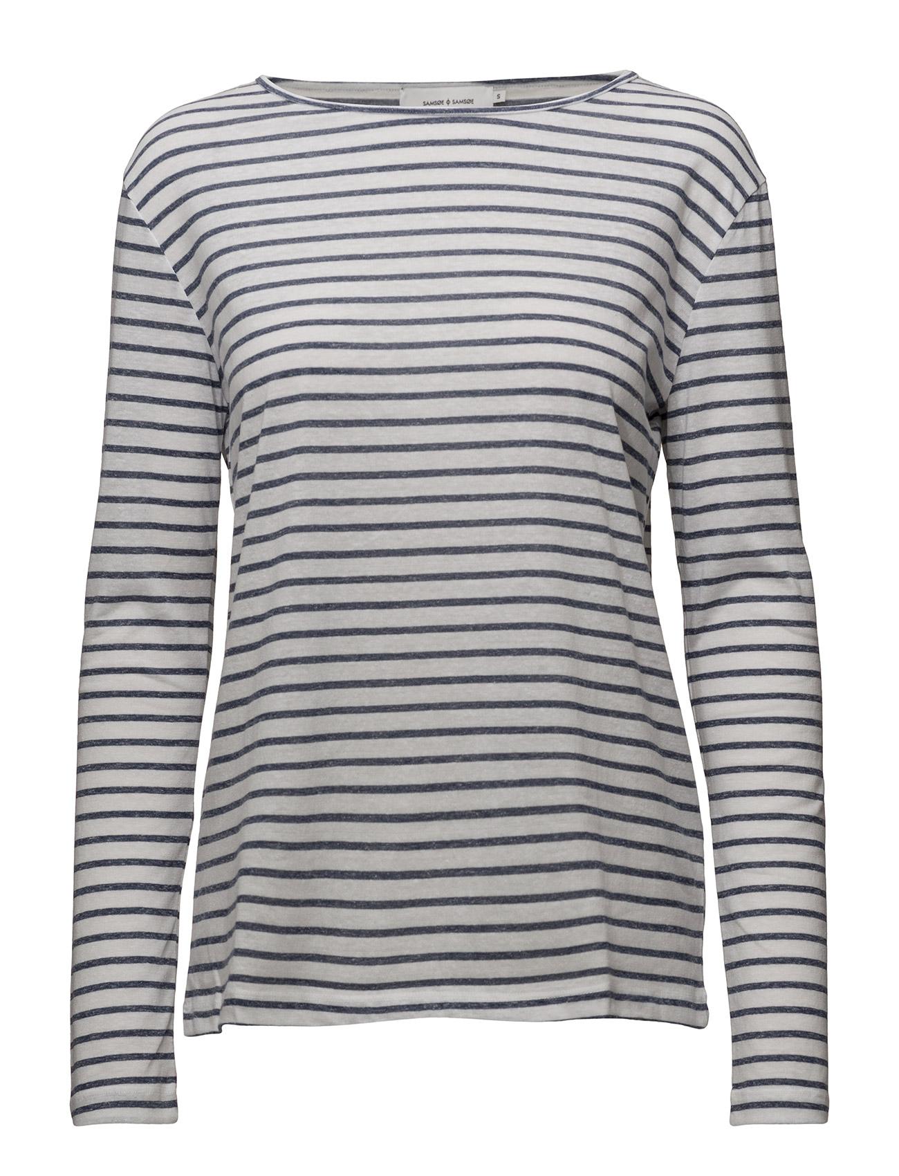 Nobel Ls Stripe 3173 Samsøe & Samsøe T-shirts & toppe til Kvinder i