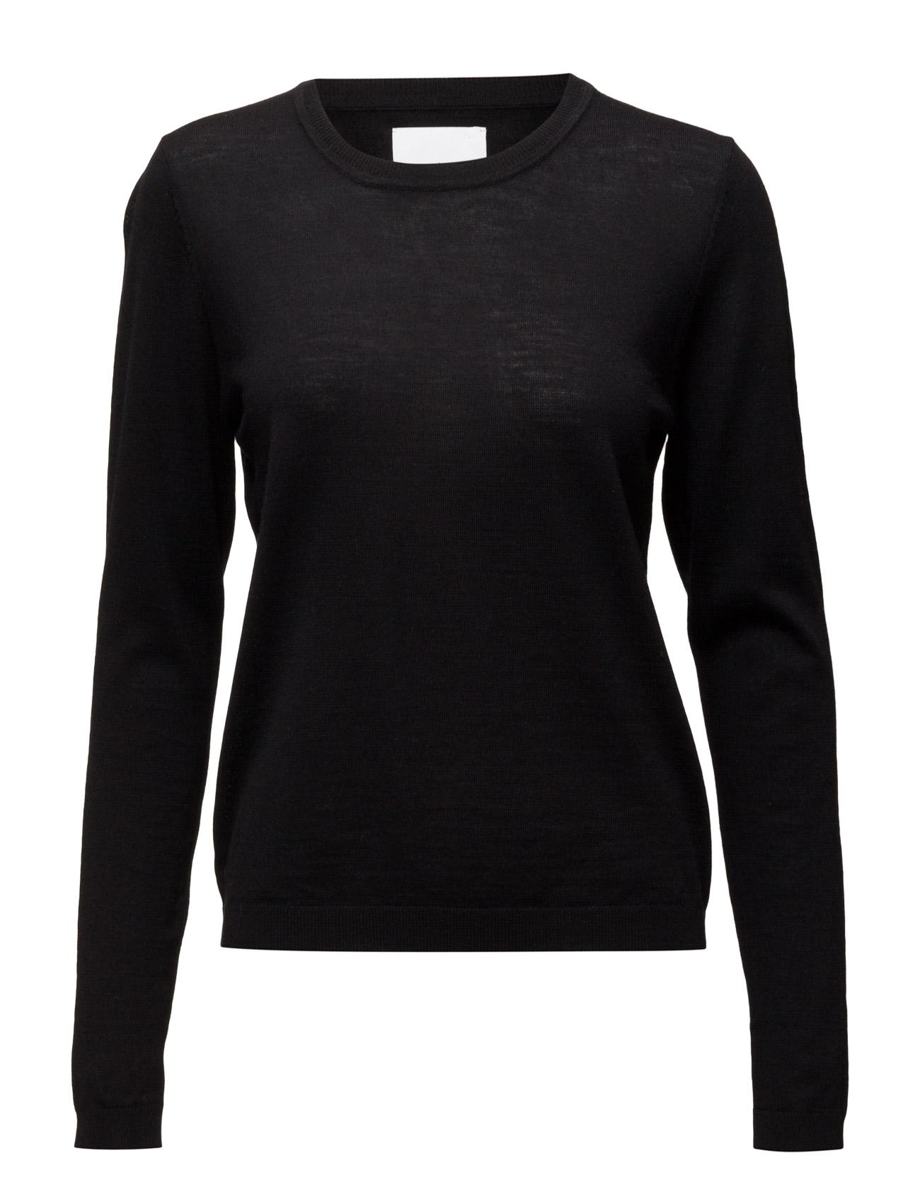 Sanella O-Neck 3111 Samsøe & Samsøe Sweatshirts til Damer i Sort