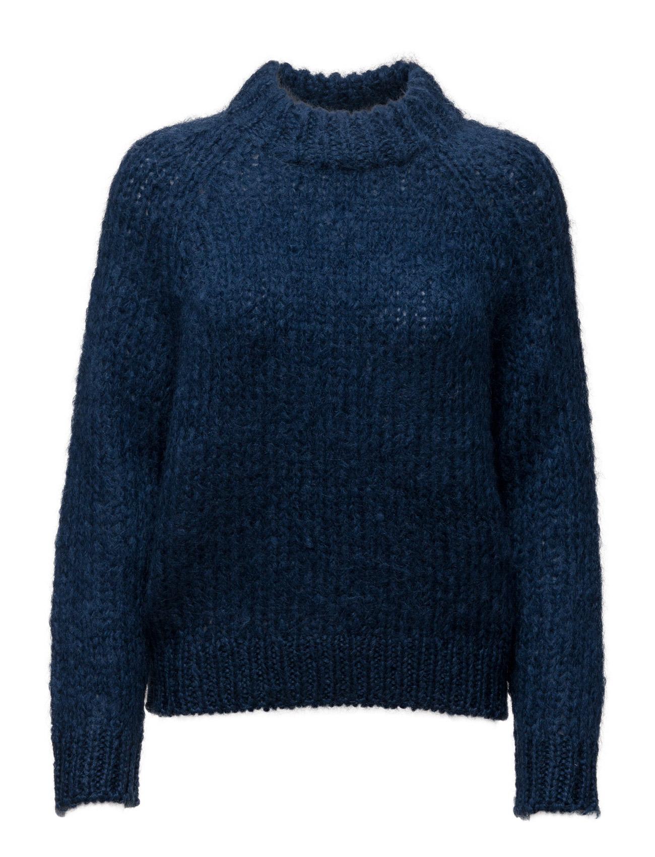Atwo O-Neck 6555 Samsøe & Samsøe Sweatshirts til Damer i Estate Blå
