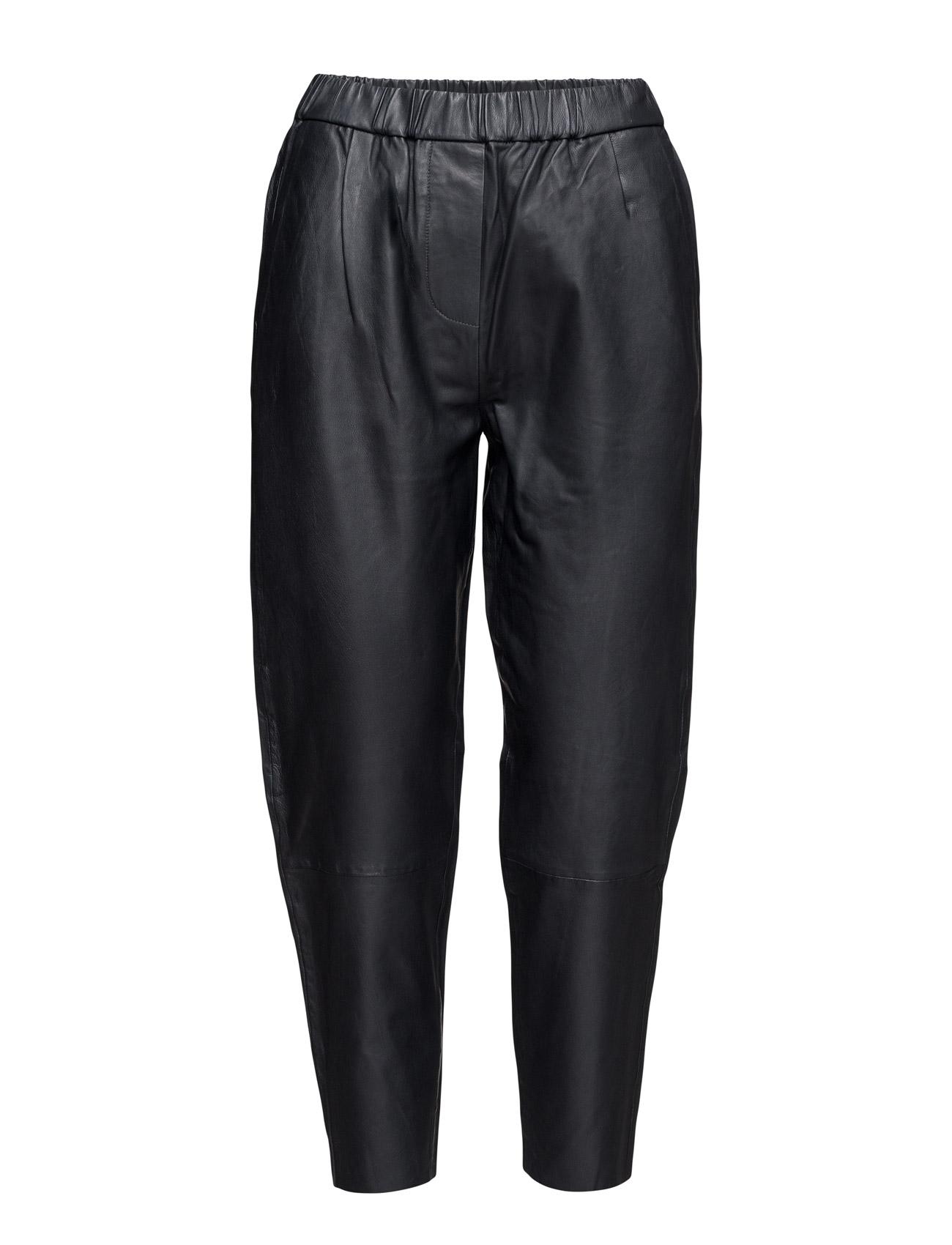 Rusti Pants 7571 Samsøe & Samsøe Læder leggins & bukser til Kvinder i Mørk Sapphire
