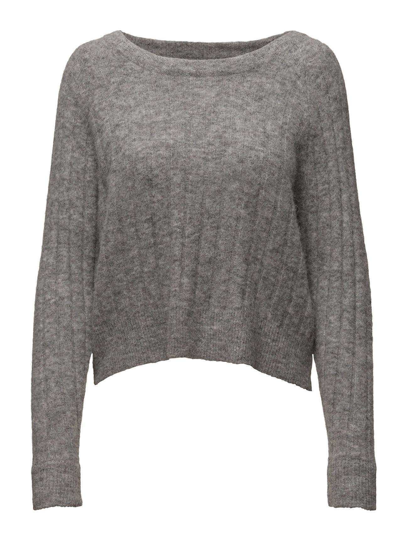 Nor O-N Short 7668 Samsøe & Samsøe Sweatshirts til Damer i Grey Mel.