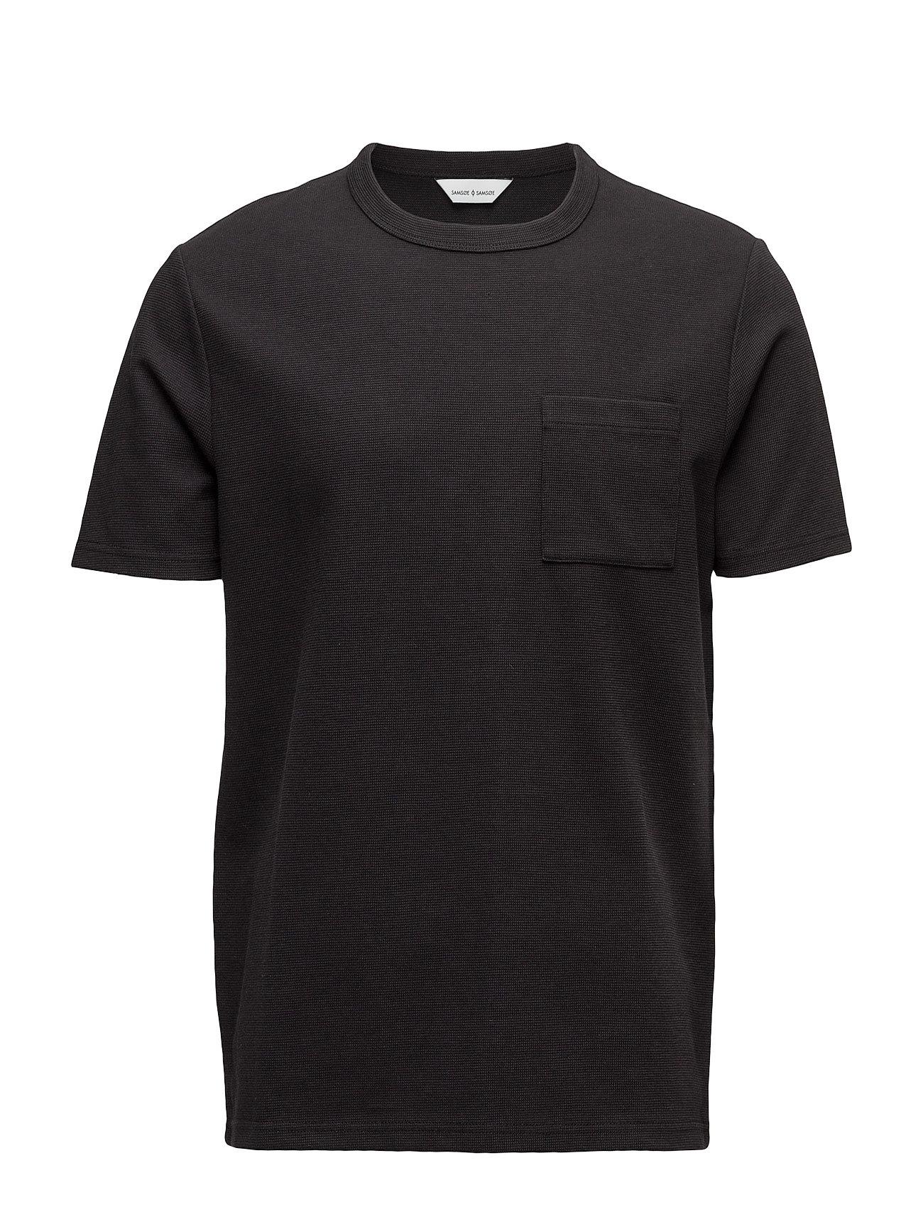 Babel O-N Ss 7594 Samsøe & Samsøe T-shirts til Mænd i Sort