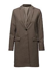 Taryn short jacket 9880 - TARTAN AOP