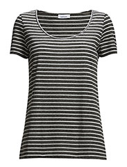 Nobel tee stripe 3173 - 3173 WHITE/BLACK