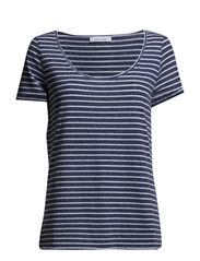 Nobel tee stripe 3173 - 3173 WHITE/BLUE