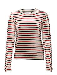 Sanella o-neck stripe 3111 - REDBLUE