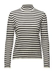 Sanella t-neck stripe 3111 - BLUECREAM