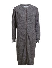Chimay long cardigan zip 2891 - BLACK DOT