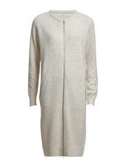 Chimay long cardigan zip 2891 - WHITE MEL.