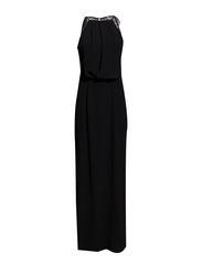 Willow dress long 5687 - BLACK