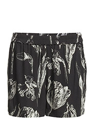 Gessi shorts aop 5687 - BLACK BOTANICAL