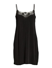 Slip dress 6202 - BLACK