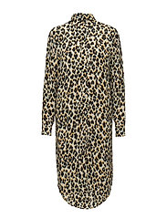 Riss shirt dress aop 3902 - LEOPARD JAUNE