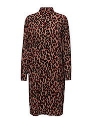 Riss shirt dress aop 3902 - LEOPARD ROUGE