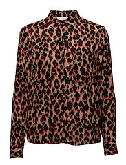 Milly shirt aop 7201 - LEOPARD ROUGE