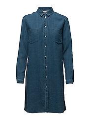 Auclair Long shirt 7749 - INDIGO BLEACH