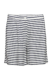 Livia shorts aop 7944 - DARK BLUE STRIPE