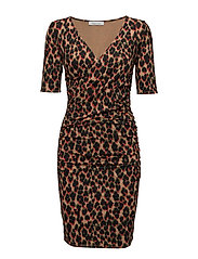 April ss dress aop 8058 - LEOPARD ROUGE