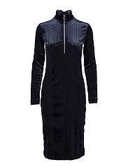 Ziva zip dress 8214 - DARK SAPPHIRE