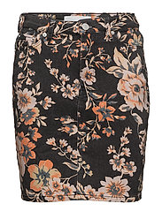 Pamela skirt 9349 - BLACK BLOOM