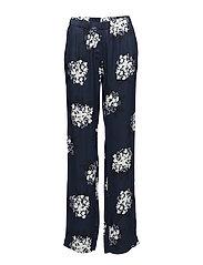 Hoys straight pants aop 7700 - FLORASION BLEU