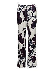 Hoys straight pants aop 7700 - PAPIER FLEURIE