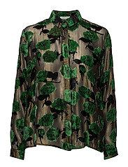 Sook shirt aop 8338 - VERT BLUMEN