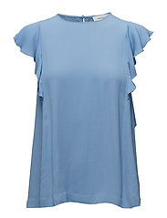 Mentha top 6616 - SILVER LAKE BLUE