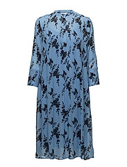 Elm shirt dress aop 9695 - BLUE BLOOM