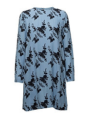 Marice ls dress aop 8083 - BLUE BLOOM