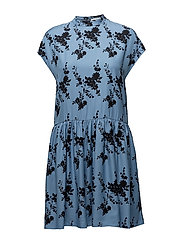 Jardin short dress aop 9710 - BLUE BLOOM