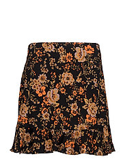 Limon s skirt aop 6515 - BLACK BLOOM