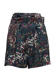 Balmville shorts aop 9710 - PLUM DOTCAMO