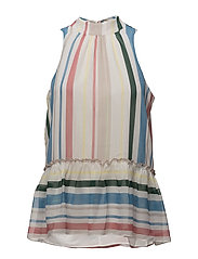 Sua top aop 9937 - COTTAGE STRIPE