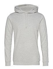 Enno hoodie ls 7057 - LIGHT GREY MEL.