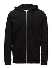 Enno zip hoodie 7057 - BLACK